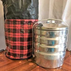 Vintage Buckeyes Food Carrier Retro Picnic Set